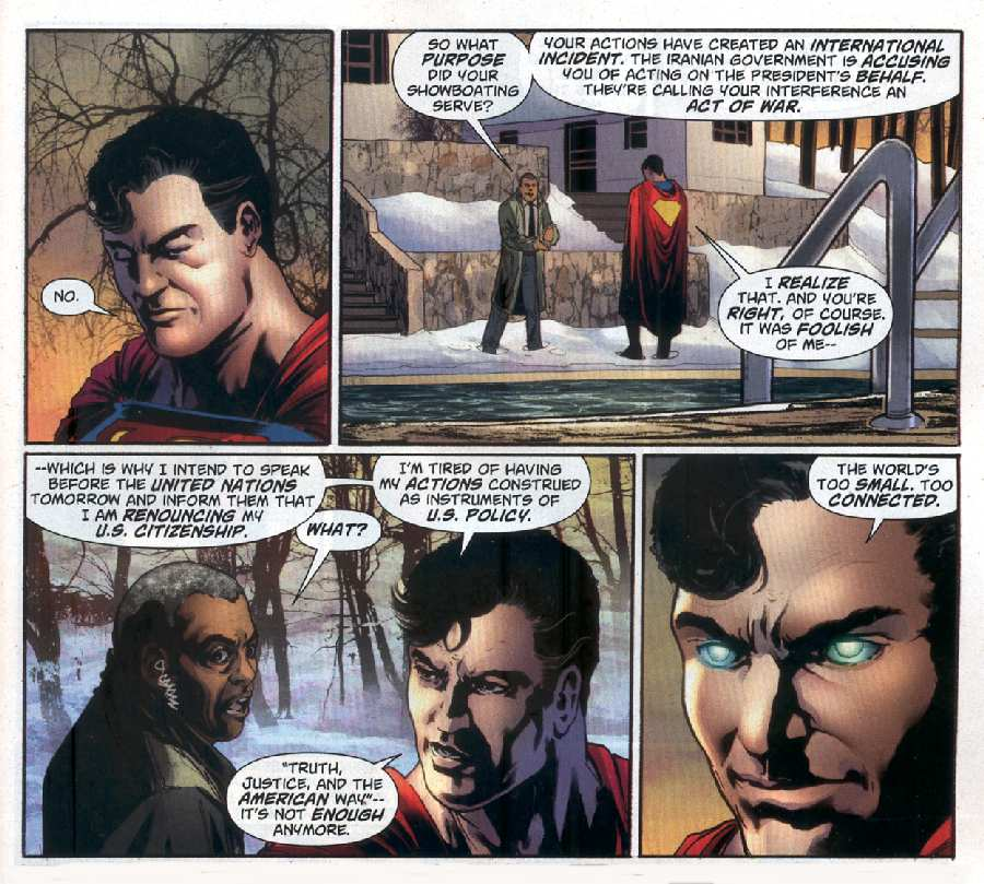 What makes superman so darned american essay